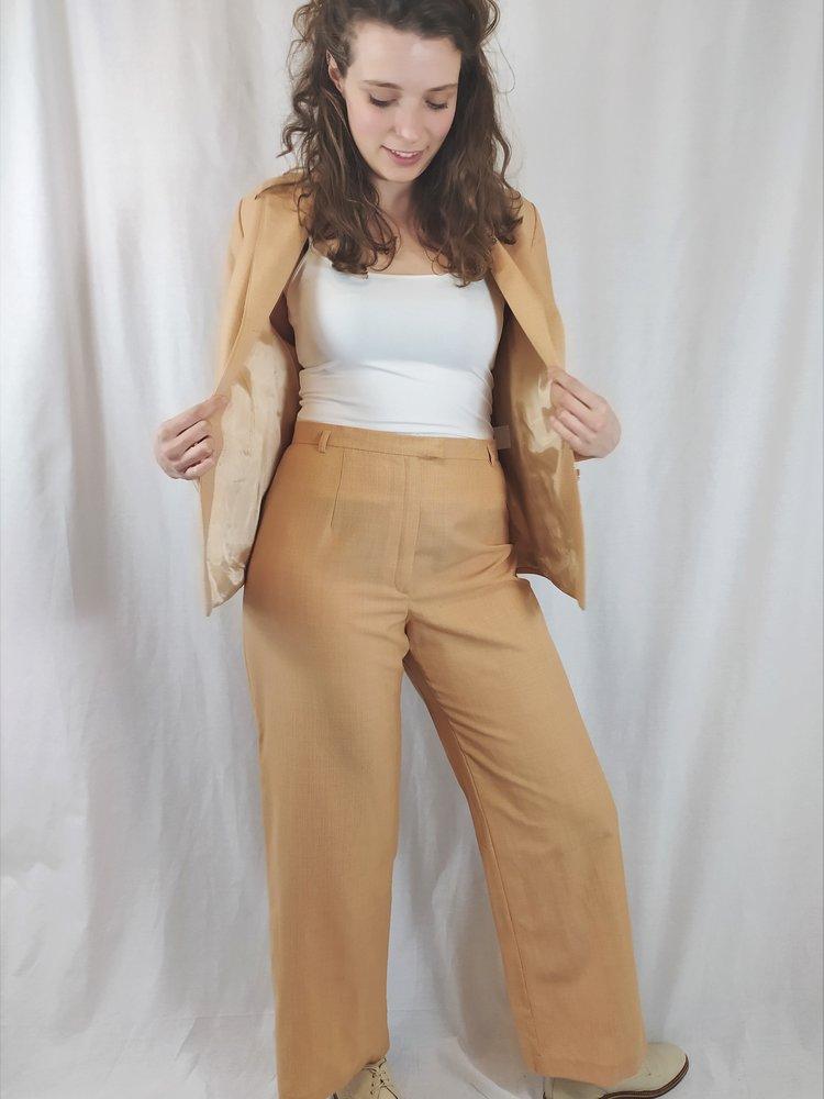 Vittoria verani Vintage suit set - orange white pattern