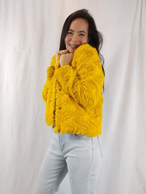 Vero Moda Fluffy jas - geel
