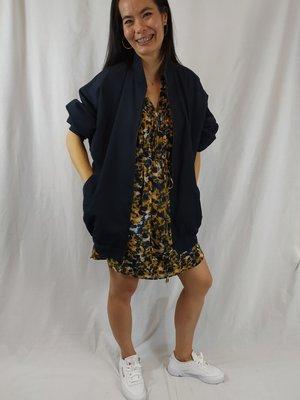 FELIDA Vintage zomerjas - donker blauw oversized
