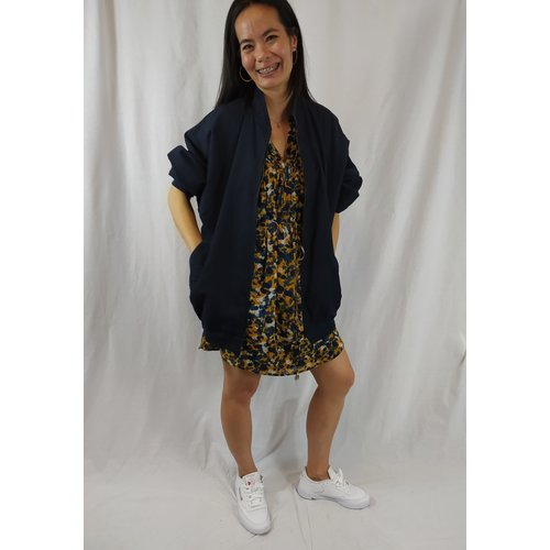 FELIDA Vintage jacket - dark blue oversized