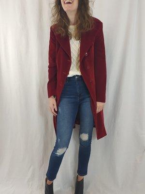 Claudia Sträter Vintage velvet jas - rood