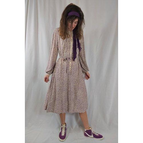 Go-kleid Vintage dress - purple white dots