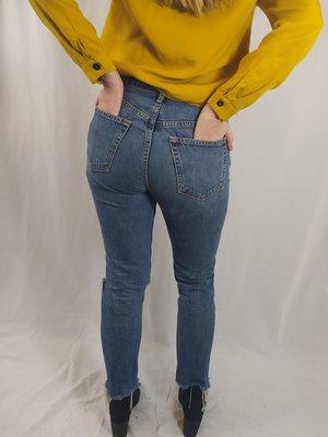 GRLFRND Denim jeans - blauw ripped (26)