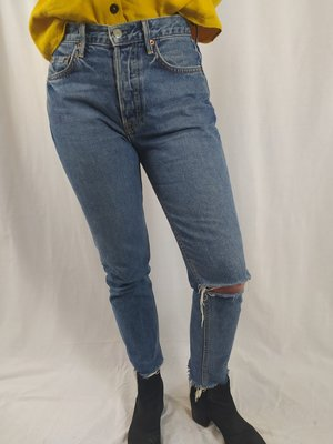 GRLFRND Denim jeans - blue ripped (26)