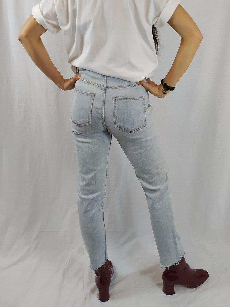 Denim & Co Denim jeans - licht raw edge (38)