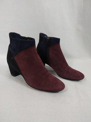 Pas de Rouge Suede ankle boots - blue aubergine