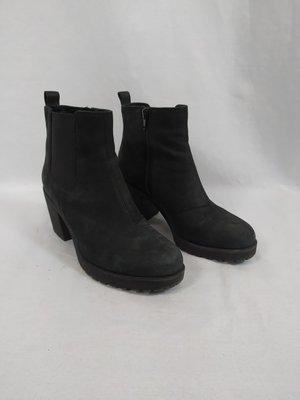 Vagabond Suede ankle boots - black block heel
