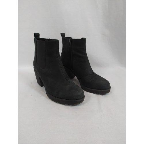 Vagabond Suede ankle boots - black block heel (38)