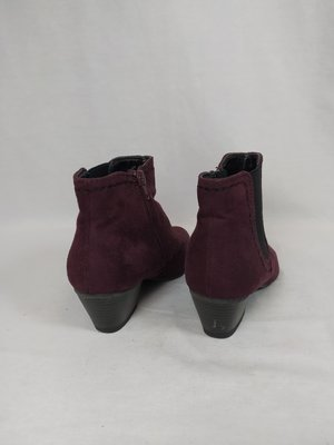 Graceland Suede ankle boots - burgundy heel