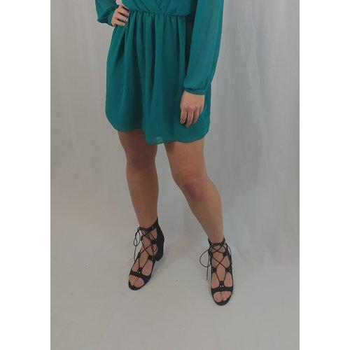 Zara Strappy heels - black block heel