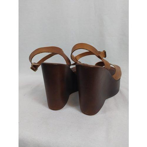 Sacha Sandal wedges - brown leather