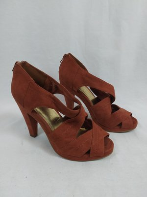 H&M Suéde high heels - koper bruin