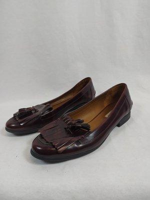 Zara Shiny loafers - burgundy