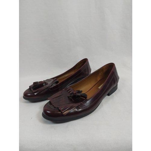 Zara Glimmende loafers - bordeaux