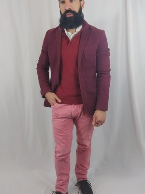 H&M Chic blazer - burgundy