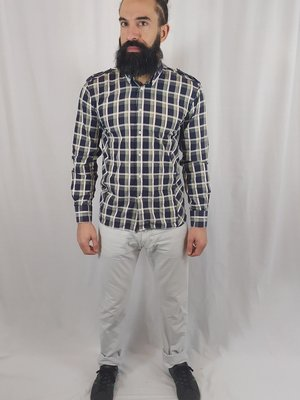 Selected Checked shirt - blue yellow