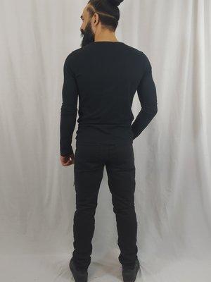 Forever 21 Stoere jeans - zwart ritsen (38)