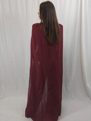 Lavish Alice Sequin jumpsuit - burgundy