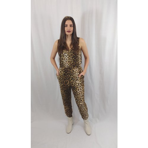 Forever 21 Panther print jumpsuit