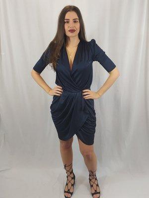 Velvet dress - dark blue