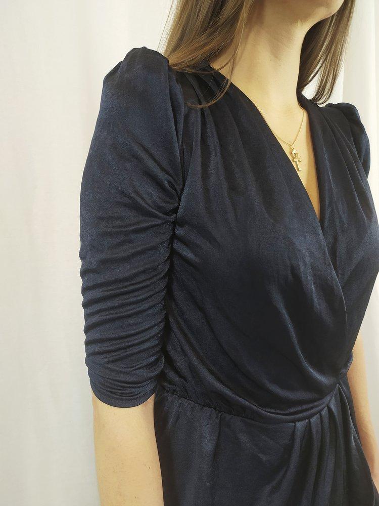 Velvet jurk - donker blauw