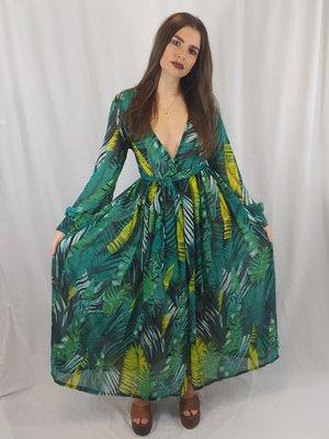 Mr KK Wide jungle dress - green