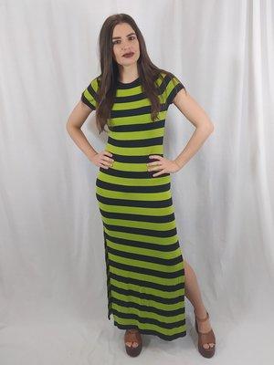 Michael Kors Striped maxi dress - green black