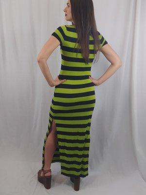 Michael Kors Gestreepte maxi jurk - groen zwart