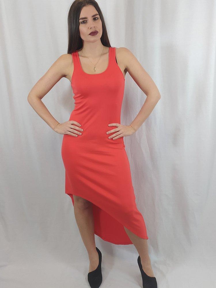Michael Kors Asymmetrische zomerjurk- rood