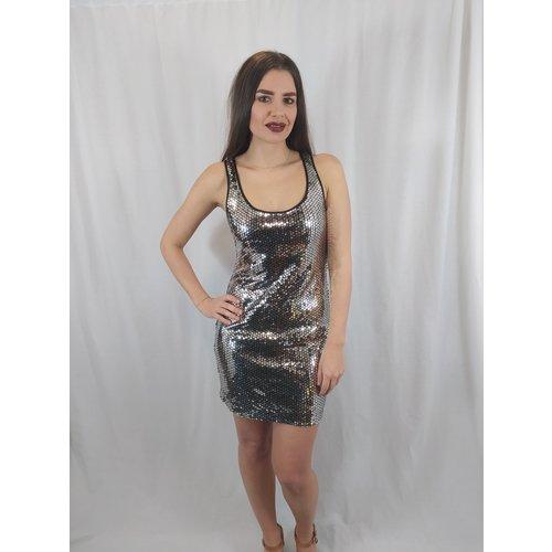 H&M Disco korte jurk - zilver