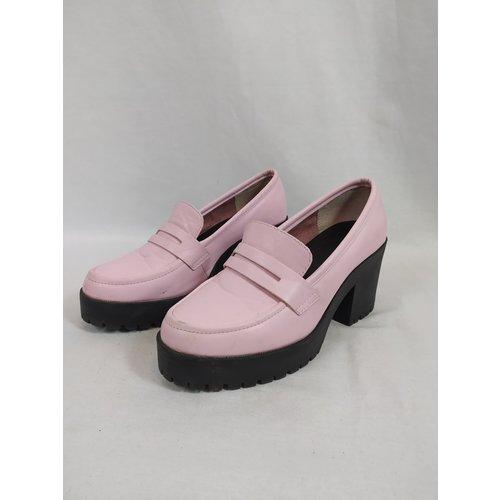 Asos Retro platform loafers - pink black
