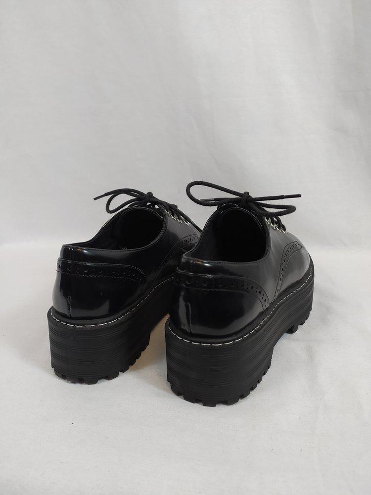 H&M Plateau schoenen - zwart glans (40)