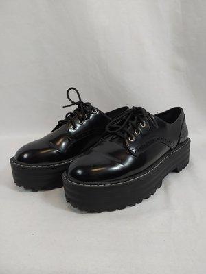 H&M Platform shoes - black gloss (40)