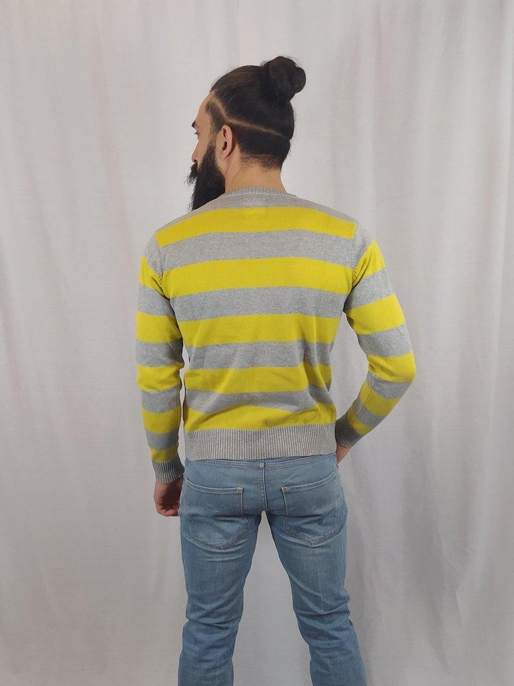 Jack & Jones Gestreepte trui - geel grijs
