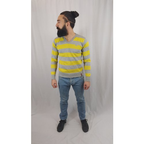 Jack & Jones Striped sweater - yellow gray
