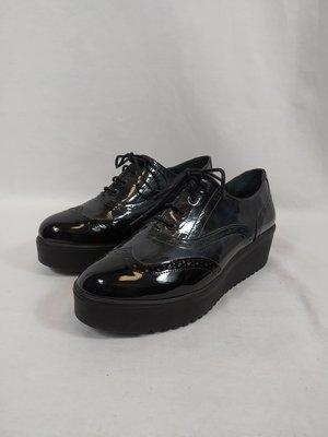 Celferi Plateau schoenen - zwart groene glans (39)