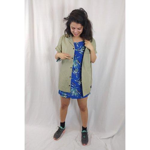 Dr Denim Long blouse - army green