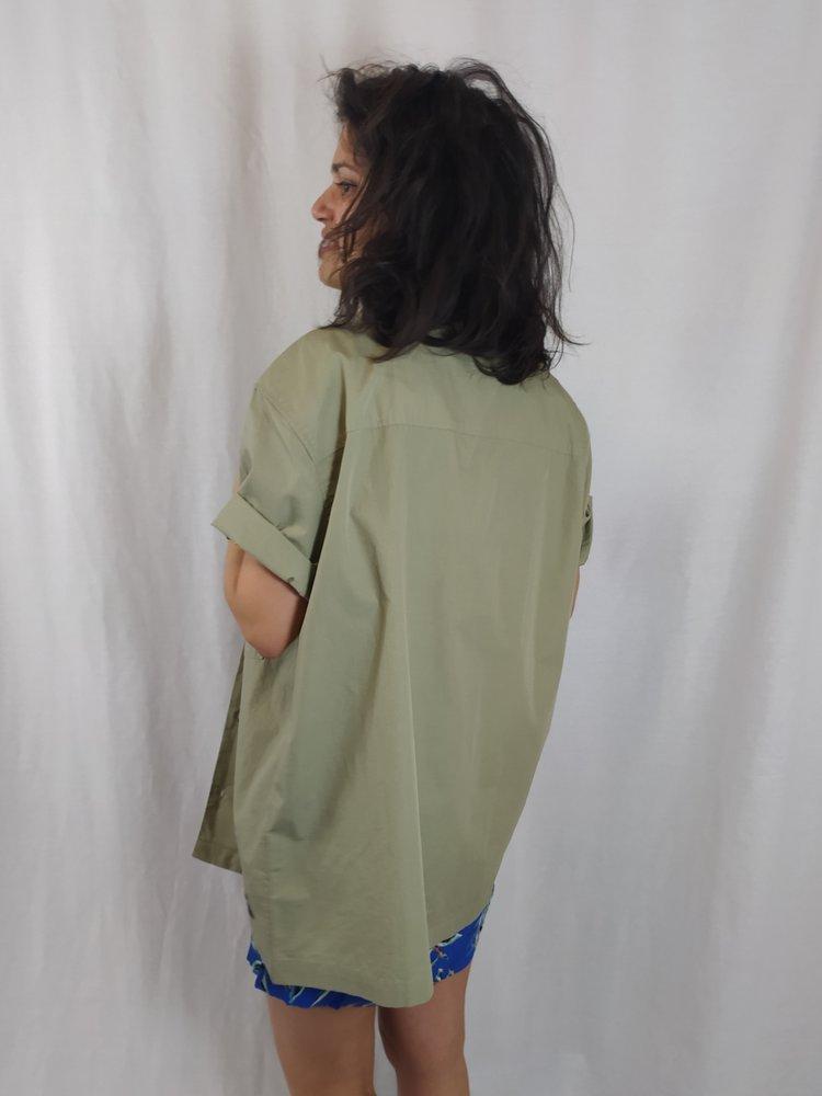 Dr Denim Lange blouse - legergroen