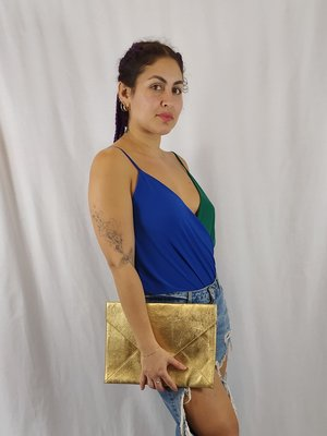 Bershka Body top - groen blauwe