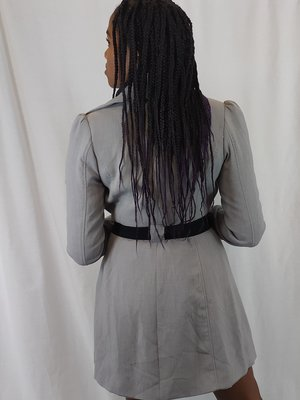 H&M Lange jas - grijs riem