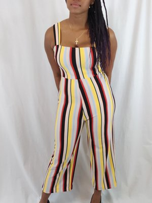 Urban Outfitters Gestreepte jumpsuit - kleurrijk