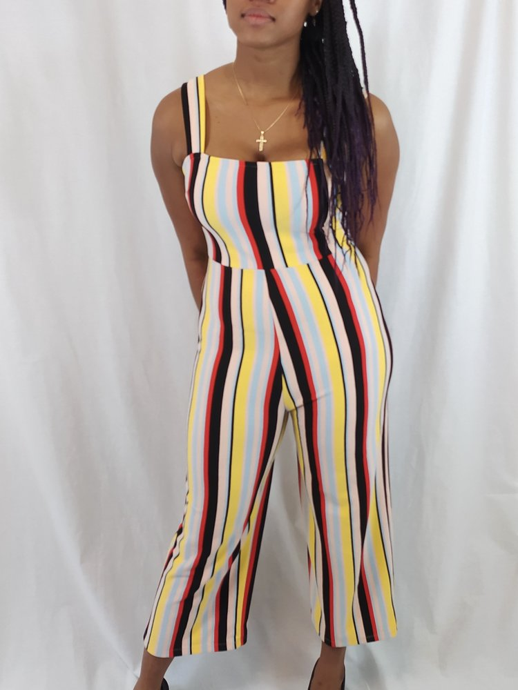 Urban Outfitters Striped jumpsuit - colorful