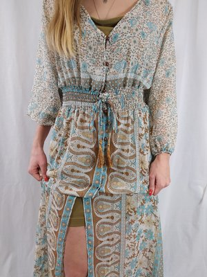 Bohemian beach dress - blue long