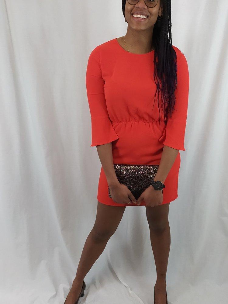 H&M Chique jurk - rood flared