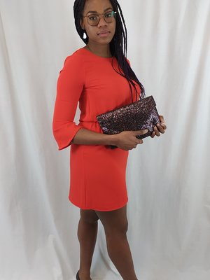 H&M Chic dress - red flared