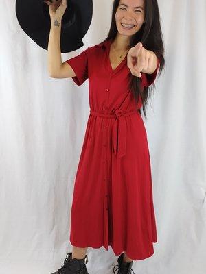 Asos Maxi jurk - rood kraag