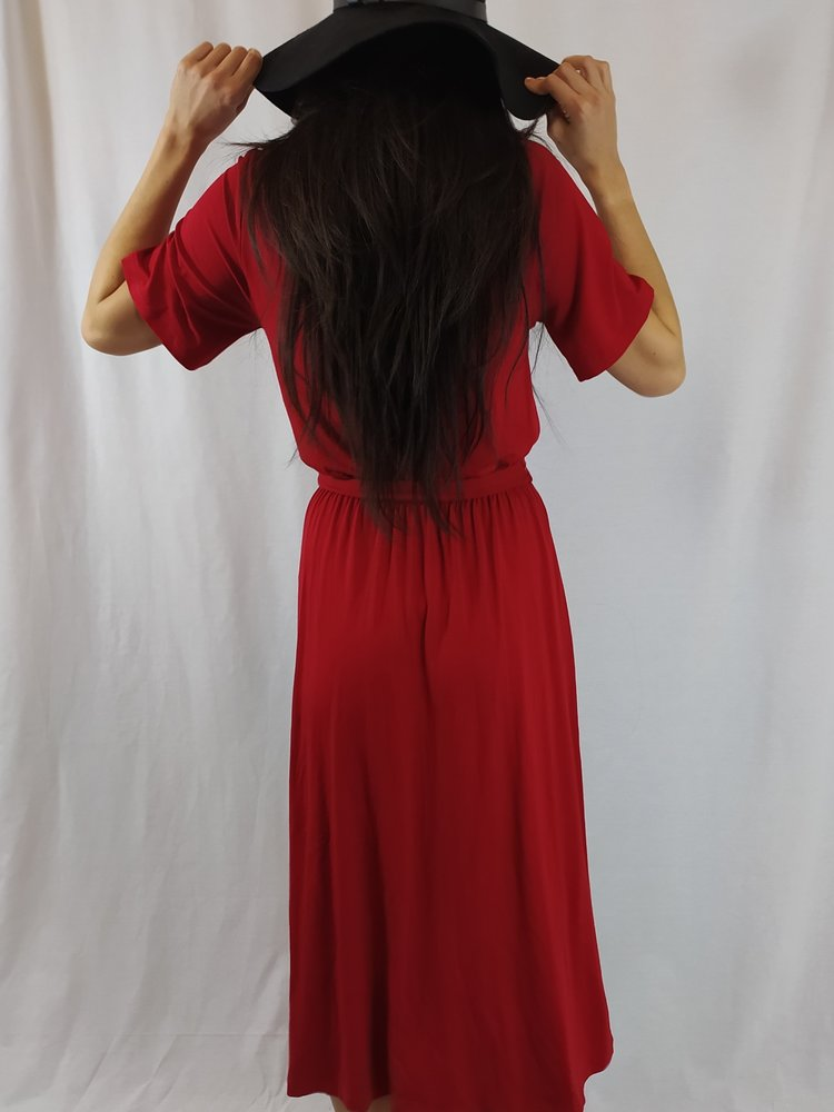 Asos Maxi dress - red collar