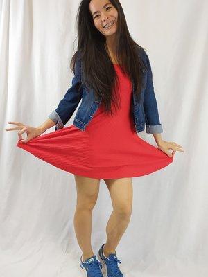 H&M Skater jurk - rood