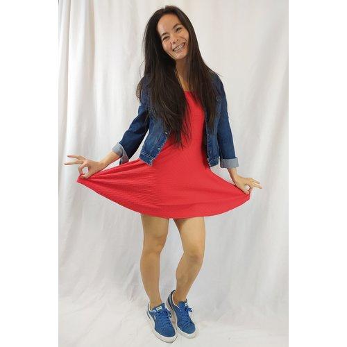H&M Skater dress - red
