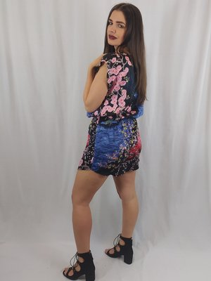 H&M Kleurrijke jurk - nachtpatroon